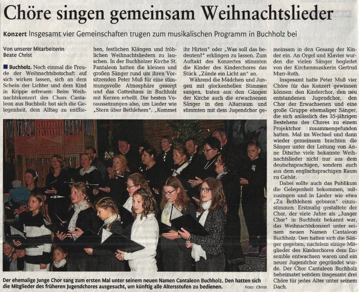 Artikel Rhein Zeitung 05.01.2016
