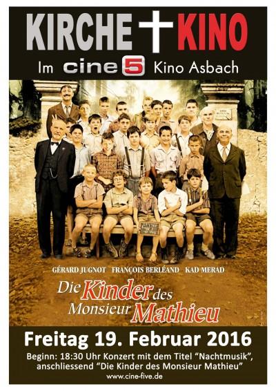 """Kirche + Kino - Cantaleon und """"Die Kinder des Monsieur Mathieu"""""""